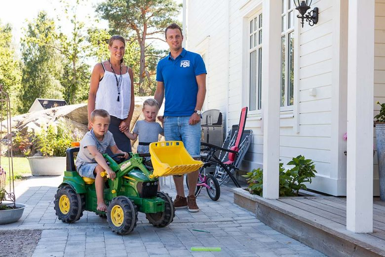 Hemma hos familjen Anderklint - Bygga hus i Göteborg.