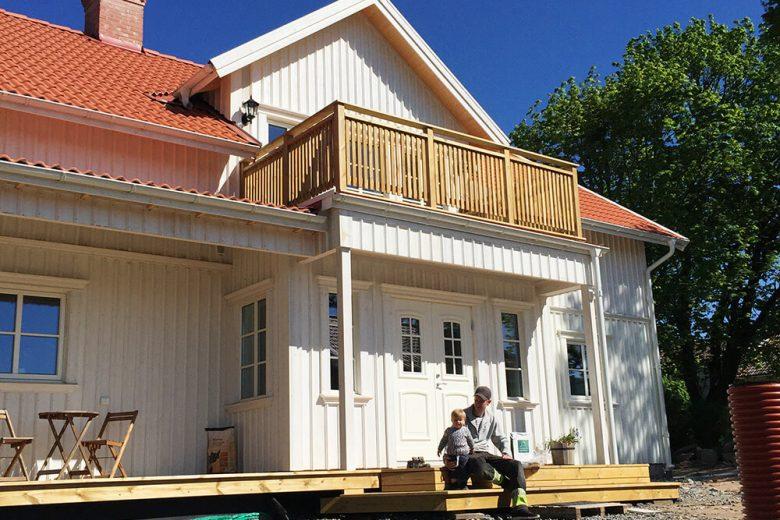 Hemma hos familjen Rosén - Bygga hus i Göteborg.