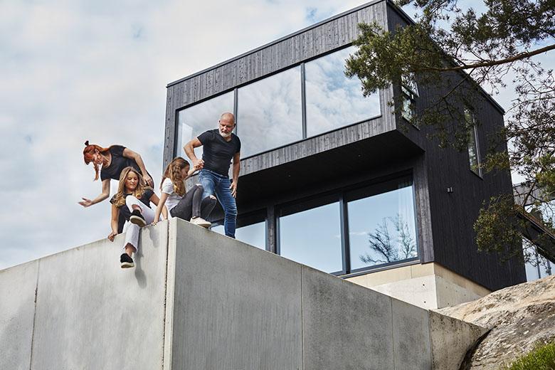 Hemma hos familjen Crozzoli - Bygga hus i Göteborg.