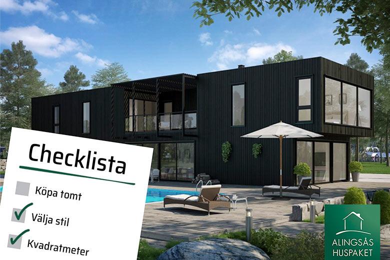 Checklista inför första mötet hos din husleverantör - Bygga hus i Göteborg.